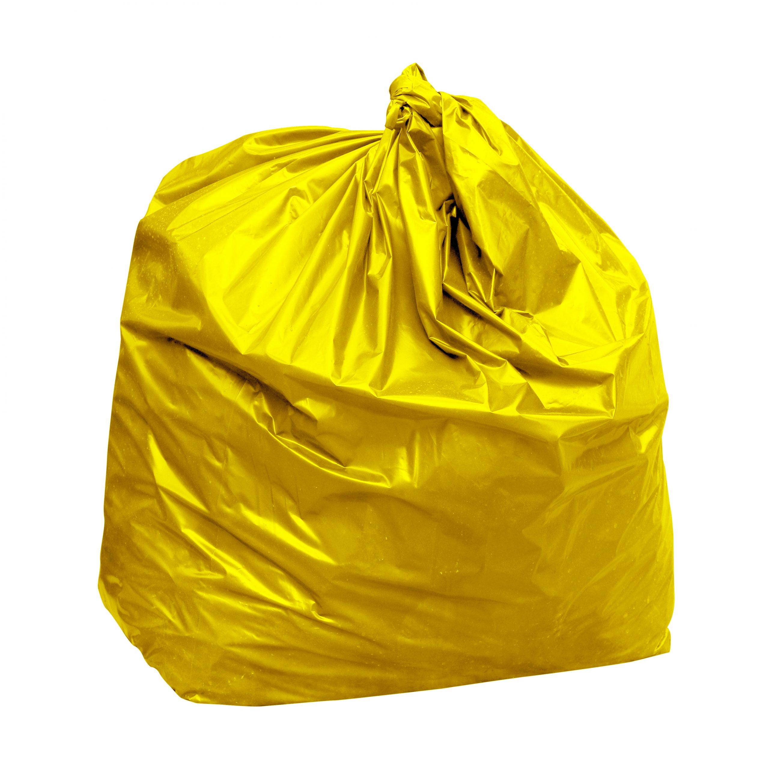 Yellow bin bags