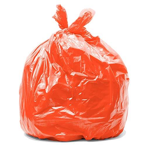 Orange bin bags