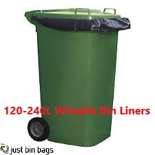 Black Wheelie Bin liners heavy duty