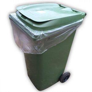 clear wheelie bin liners